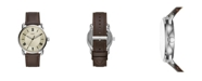Fossil Men's Copeland Brown Leather Strap Watch 42mm