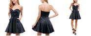 City Studios Juniors' Satin Strapless Skater Dress