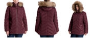 Michael Kors Plus Size Faux-Fur Trim Hooded Down Puffer Coat, Created for Macy's