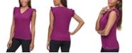Calvin Klein Ruffle-Sleeve V-Neck Top