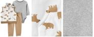 Carter's Baby Boy 3-Piece Bear Little Vest Set