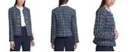 Calvin Klein Tweed Cropped Jacket, Regular & Petite Sizes