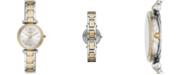 Fossil Women's Carlie Mini Two-Tone Bracelet Watch 28mm