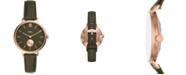 Fossil Women's Kalya Green Leather Strap Watch 36mm