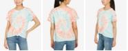 Hippie Rose Juniors' Twist-Front Cotton T-Shirt