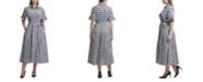Calvin Klein Plus Size Checkered Shirtdress