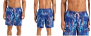 """Club Room Men's Regular-Fit Quick-Dry Plaid Leaf-Print 7"""" Board Shorts, Created for Macy's"""