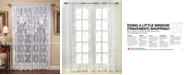 "Saturday Knight CLOSEOUT! Sheer Butterflies Lace 56"" x 38"" Swag Valance"