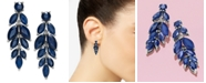 Macy's Blue Sapphire (6-1/2 ct. t.w.) & White Sapphire (1/2 ct. t.w.) Chandelier Earrings in Sterling Silver, Created for Macy's