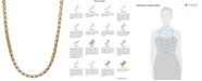 "Macy's 14k Gold Necklace, 20"" Diamond Cut Popcorn Chain (1-5/8mm)"