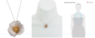 Giani Bernini Two-Tone Hibiscus Pendant Necklace, Created for Macy's