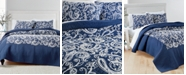 Martha Stewart Collection CLOSEOUT! Paisley Vine Cotton Crewelwork King Quilt, Created for Macy's