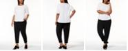 Eileen Fisher Plus Size Organic Cotton T-Shirt & Slouchy Slim-Fit Pants