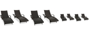 Noble House Ventura Outdoor Chaise Lounge (Set Of 4)