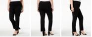 JM Collection Plus & Petite Plus Size Tummy Control Curvy-Fit Pants, Created for Macy's