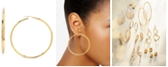 Macy's 14k Gold Earrings, Large Polished Hoop, 2-1/4 inches