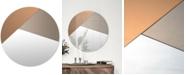 Furniture Novello Small Round Mirror, Quick Ship