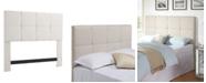 Dwell Home Inc. Grid Headboard, Full/Queen, Bone