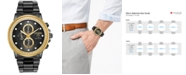Citizen Eco-Drive Men's Chronograph Nighthawk Chandler Black Stainless Steel Bracelet Watch 42mm