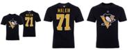 Majestic Men's Evgeni Malkin Pittsburgh Penguins Authentic Stack Name & Number T-Shirt