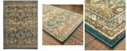 "Oriental Weavers Dawson 8527A Teal/Brown 3'10"" x 5'5"" Area Rug"