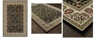 "Oriental Weavers Kashan 108B Black/Ivory 6'7"" x 9'6"" Area Rug"