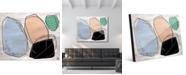 "Creative Gallery Black Rock Abstract 16"" x 20"" Acrylic Wall Art Print"