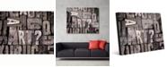 "Creative Gallery Art Box - B&W Text 20"" x 24"" Acrylic Wall Art Print"