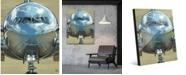 "Creative Gallery Fuselage Jet Plane Illustration 16"" x 20"" Acrylic Wall Art Print"