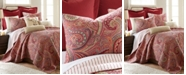 Levtex Spruce Red Paisley Reversible Twin Quilt Set