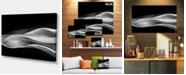 "Design Art Designart Glittering Silver Pattern Abstract Canvas Art Print - 32"" X 16"""
