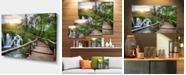 "Design Art Designart Pathway In Plitvice Lakes Photography Canvas Art Print - 32"" X 16"""