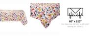 "Design Imports BBQ Fun Print Outdoor Table cloth 60"" X 120"""