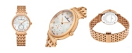 Stuhrling Alexander Watch A201B-03, Ladies Quartz Small-Second Watch with Rose Gold Tone Stainless Steel Case on Rose Gold Tone Stainless Steel Bracelet