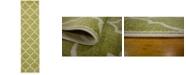 """Bridgeport Home Arbor Arb3 Green 2' 7"""" x 10' Runner Area Rug"""