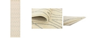 "Bridgeport Home Fio Fio1 Ivory 2' 7"" x 10' Runner Area Rug"