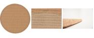 Bridgeport Home Pashio Pas6 Light Brown 6' x 6' Round Area Rug