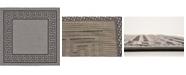 Bridgeport Home Pashio Pas6 Gray 6' x 6' Square Area Rug