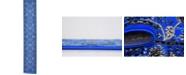 """Bridgeport Home Arnav Arn1 Blue 3' x 16' 5"""" Runner Area Rug"""