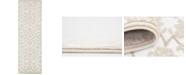 """Bridgeport Home Marshall Mar1 Snow White 3' x 9' 10"""" Runner Area Rug"""
