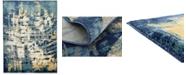 Bridgeport Home Marblesea Mrb5 Navy Blue 9' x 12' Area Rug