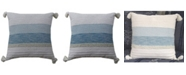 """Chicos Home Decorative Throw Pillow 22"""" x 22"""" for Couch Handloom Woven"""