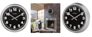 Citizen Gallery Indoor/Outdoor Silver-Tone Wall Clock
