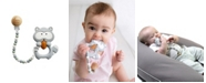 Tiny Teethers Designs 3 Stories Trading Tiny Teethers Infant Silicone Pacifier Clip With Large Removable Teether, Raccoon