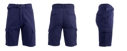 Galaxy By Harvic Blue Rock Men's Cotton Belted Cargo Shorts