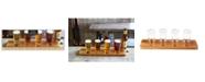 Studio Mercantile Beer Tasting Flight Set Wood 5pc