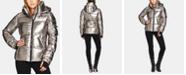 S13 Kylie Metallic Hooded Puffer Coat
