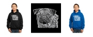 LA Pop Art Boy's Word Art Hoodies - Pug Face