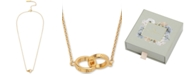 "Olivia Burton Classics Double Ring Pendant Necklace, 16"" + 1"" extender"