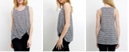 COIN 1804 Womens Stripe Twist Tank Top